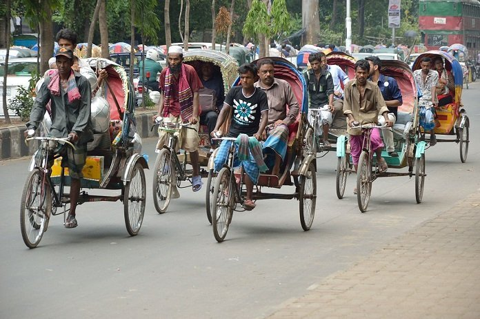 Cycle rikshaws in Dhaka