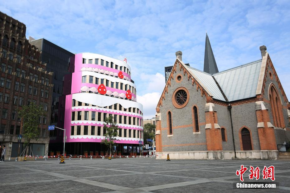 Shanghai cake building vs Church building