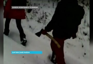 Russian wolves relieved after government provide transport for axe wielding school children