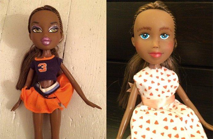 Caitlin receives a Bratz Doll makeunder