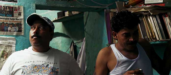 Core Love Commandos. Sagar (left) alongside Sonu (right) an expert in organising marriages of lovers. (Al Jazeera)