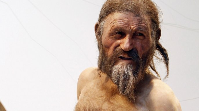 Ötzi the Iceman was discovered along the border between Italy and Austria. Ötzi lived 5300 years ago before being murdered. (Photo: history.com)