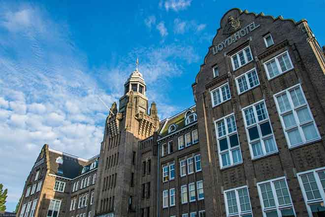 The once infamous Het Arresthuis prison is now a luxury 117-room hotel in Amsterdam. (Photo: lloydhotel.com)