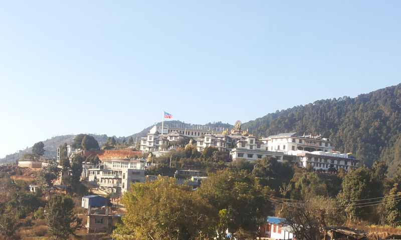 Locally known as the Seto Gumba (White Monastery). The Drupka kung fu nuns are headquartered at the Druk Amitabha Mountain Monastery, Kathmandu, Nepal (Photo: Wikimedia/Anshu kipa priya shrestha)