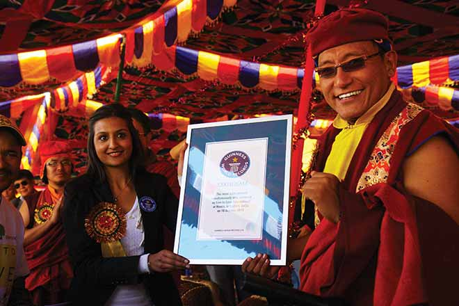 His Holiness Gyalwang Drukpa, the leader of the 1,000-year-old sect, encouraged the nuns to learn Kung Fu a decade ago. (Photo: Wikimedia/Drukpa Publications Pvt. Ltd.)
