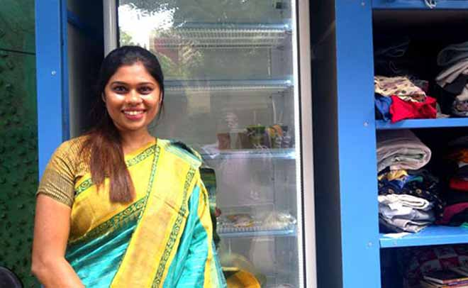 Dr. Issa Fathima Jasmine invested $800 of her own money to buy the Chennai community fridge. (Photo: mathrubhumi.com)