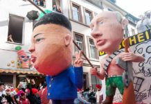 Kim Jong Un at the 2016 Rosenmontag parade. (Photo: Wikimedia/Marco Verch)