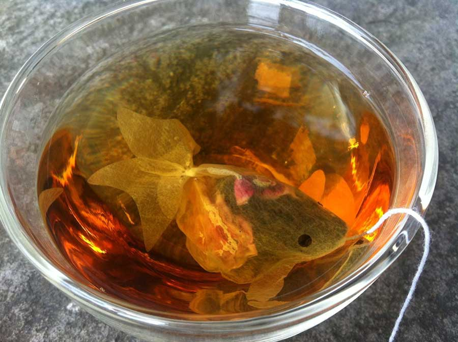 The Charm Villa goldfish tea bag was originally designed by university students in 2013. (Photo: Facebook/Charm Villa)