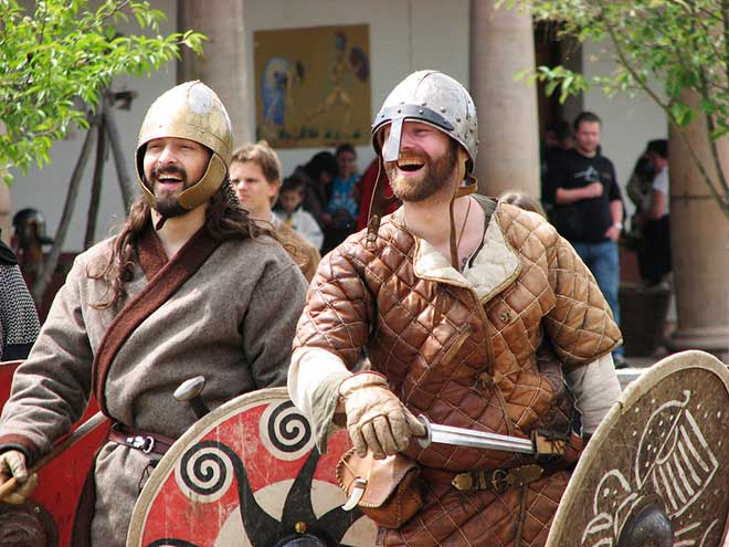 Bjørn and Magnus laughed heartily at Astrid's extortionate bride price. (Photo: Flickr/Hans Splinter)