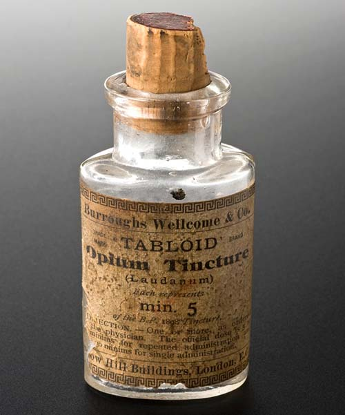 Empty bottle for opium tincture, London, England, 1880-1940. (Source: Science Museum, London)