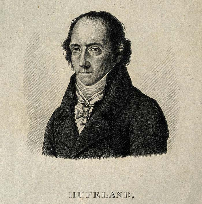 Christoph Wilhelm Hufeland. Stipple engraving by A. Tardieu. (Source: Science Museum, London)