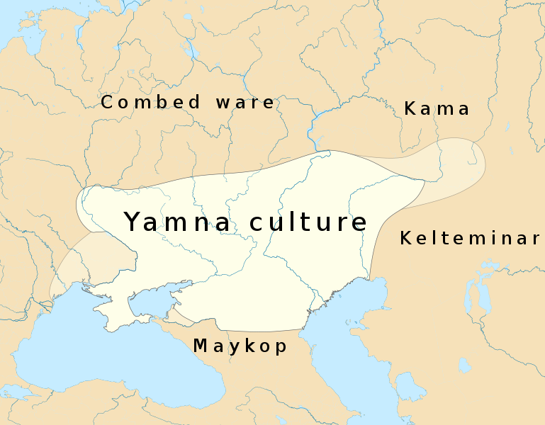 Academics have pinpointed a culture known as the Yamnaya as the leading contender for being the original speakers of the first Indo-European language. This culture existed on the steppes of Ukraine and southern Russia around 5,000 years ago. (Image: Wikimedia/Joostik)
