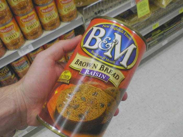 B&M Canned bread. A firm staple of the New Englander diet. (Photo: mccun934/Flickr)