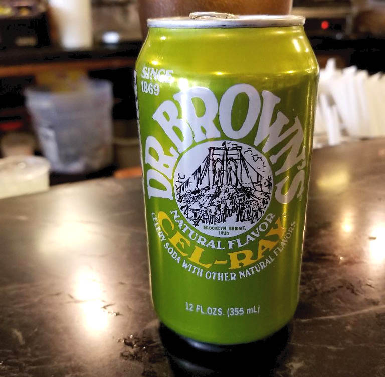 Dr. Brown's Cel-rey soda began life as Dr. Brown's Celery Tonic and was first created in 1868 in Brooklyn, New York. In the 1900's a change of name to Dr. Brown's Cel-Ray soda was instigated as a result of The Food and Drug Administration objecting to the use of the word