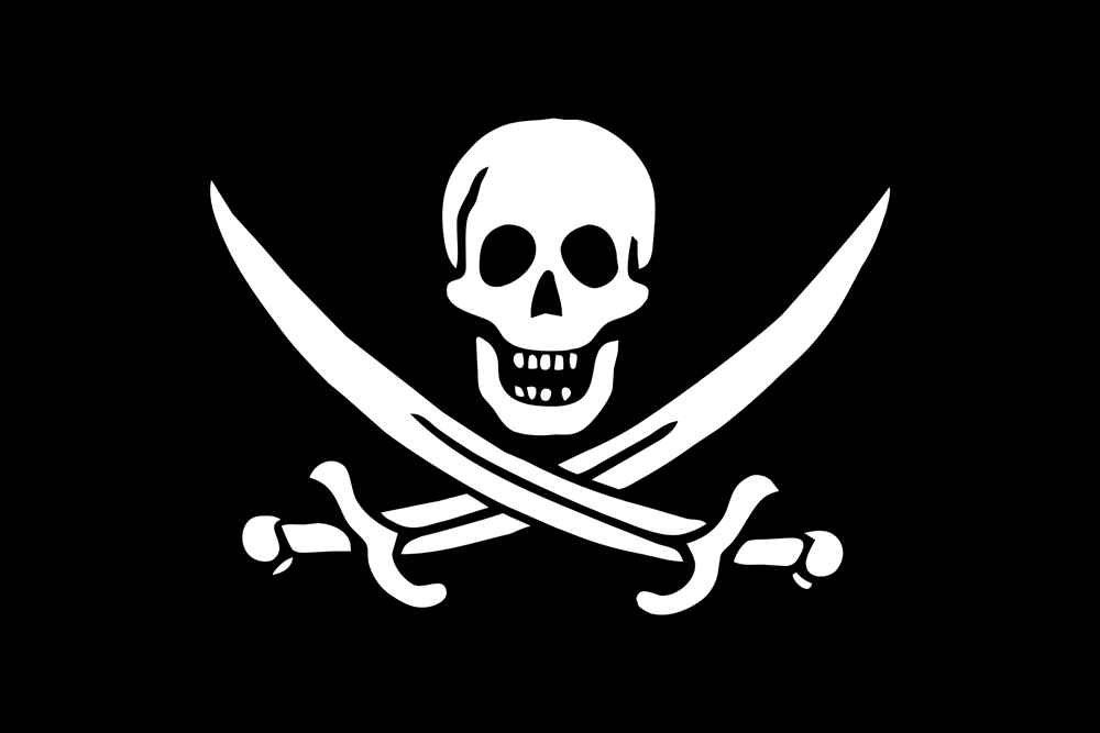 An 18th-century pirate flag. (Photo: Wikimedia Commons/author unknown)