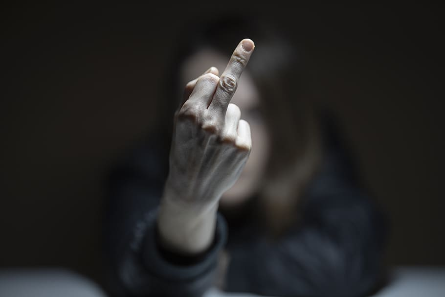 In Rome, presenting the middle finger was seen as an outright threat. They even gave the insult a latin name: the digitus impudicus, or unchaste finger. (Photo: pxfuel.com)