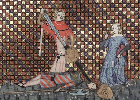 The Romance of Alexander in French verse, 1338-44 (Image: Bodleian Library MS. Bodl. 264)