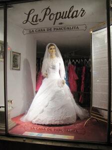 La Pascualita in the store window. (Photo: Wikimedia Commons/Joeysodi)