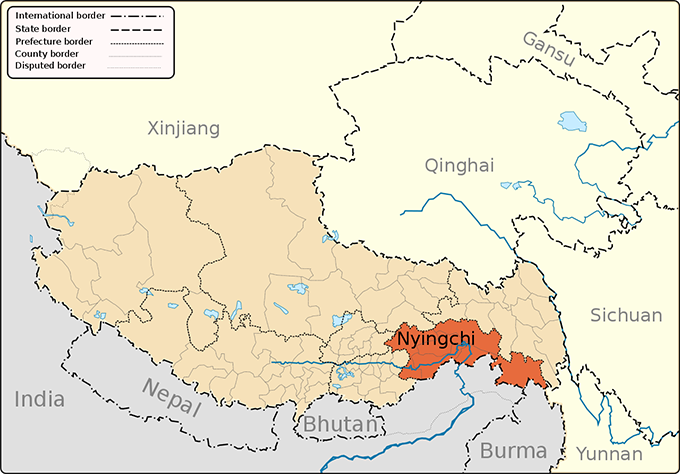 Black Diamond apples are grown in Nyingchi, also known as Linzhi, a prefecture-level city in southeast China's Tibet Autonomous Region. (Image: Wikimedia/Keithonearth)