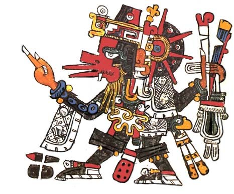 One theory posits that the Aztec death whistle is connected to the Aztec veneration of of the god of wind, whom they called Ehecatl. (Source: Wikimedia)