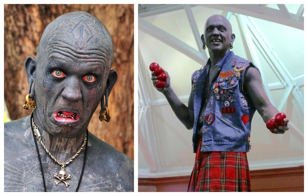 "Lucky Diamond Rich is a street artist and performer from New Zealand who currently holds the record as ""the world's most tattooed person."" (Photo: Wikimedia/TOONMAN_blchin/hypersapiens)"