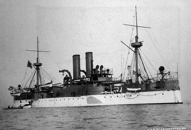 The USS Maine was a United States battleship that sank in Havana Harbor in February 1898, resulting in a US offensive that led to the Spanish–American War. (Photo: Wikimedia Commons/National Museum of the US Navy)