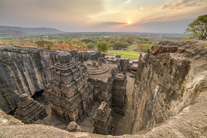 Aurangabad, Maharashtra, India, Kailas temple in Ellora caves complex, Maharashtra state in India. (Photo: Shutterstock)