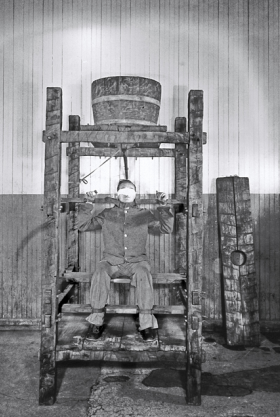 A Victim of Chinese Water Torture at Sing Sing Correctional Facility, New York, circa 1860. (Wikimedia/The Burns Archive)