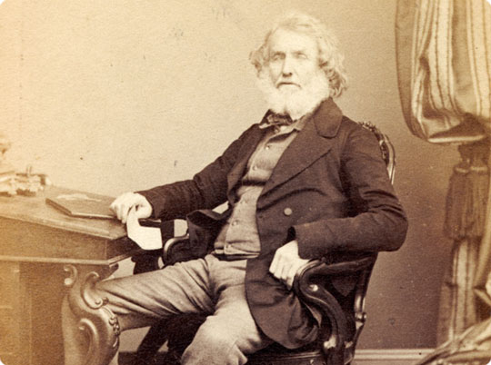 George Everest at home in later life. The surveyor wasn't in favor of his name being used because natives of India may struggle to pronounce it and had no direct Hindi translation! (Photo: communicatescience.eu)